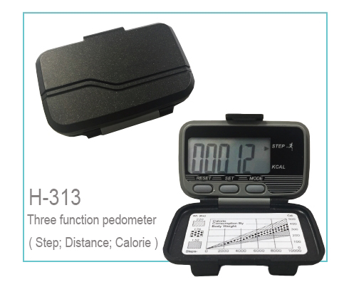 H-313 Pendulum Pedometer (Three function)